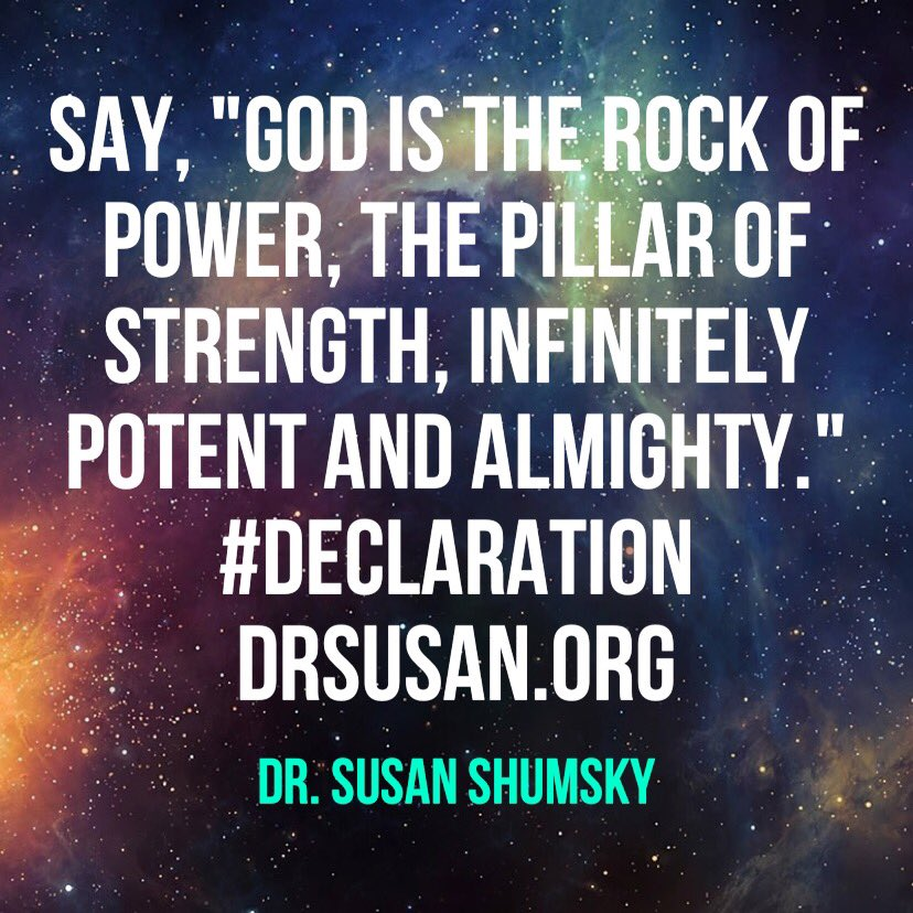 Say, 'God is the rock of power, the pillar of strength, infinitely potent and almighty.' #Declaration https://t.co/GCIY5QEWvv