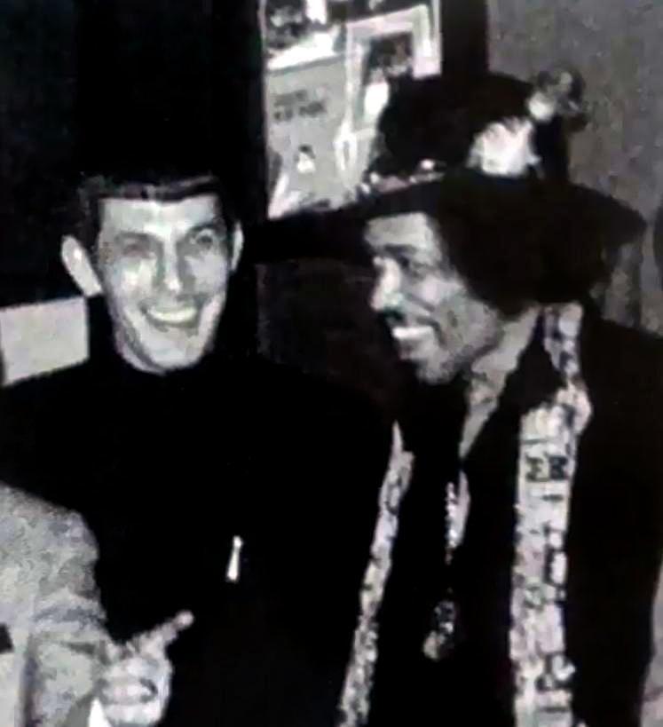 Leonard Nimoy meets Jimi Hendrix, c. 1970: #LATimes