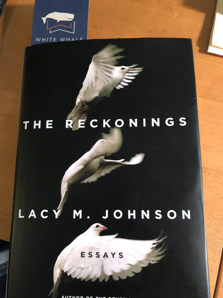 Definitely one of the best books I've read in 2018: check out @lacymjohnson THE RECKONINGS (@ScribnerBooks) for wonderful meditations on justice, written in beautiful prose, in tradition of Eula Biss. (thanks to @whitewhalebks for the introduction)