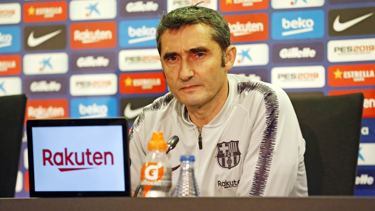 🎥 LIVE! Watch Ernesto Valverde's #LevanteBarça press conference in English! 👉 http://ow.ly/DerJ30mZZt3 🔵🔴 #ForçaBarça