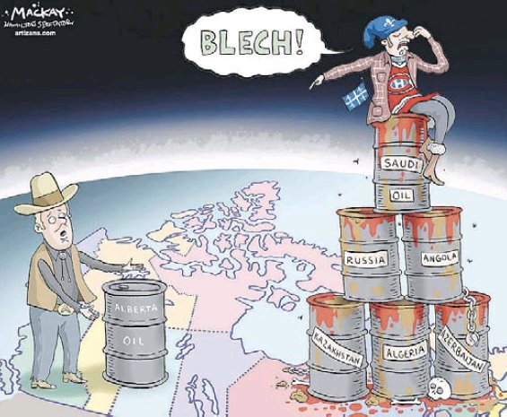 On Canadian pipeline policy, it feels like we're living in a cartoon world these days.