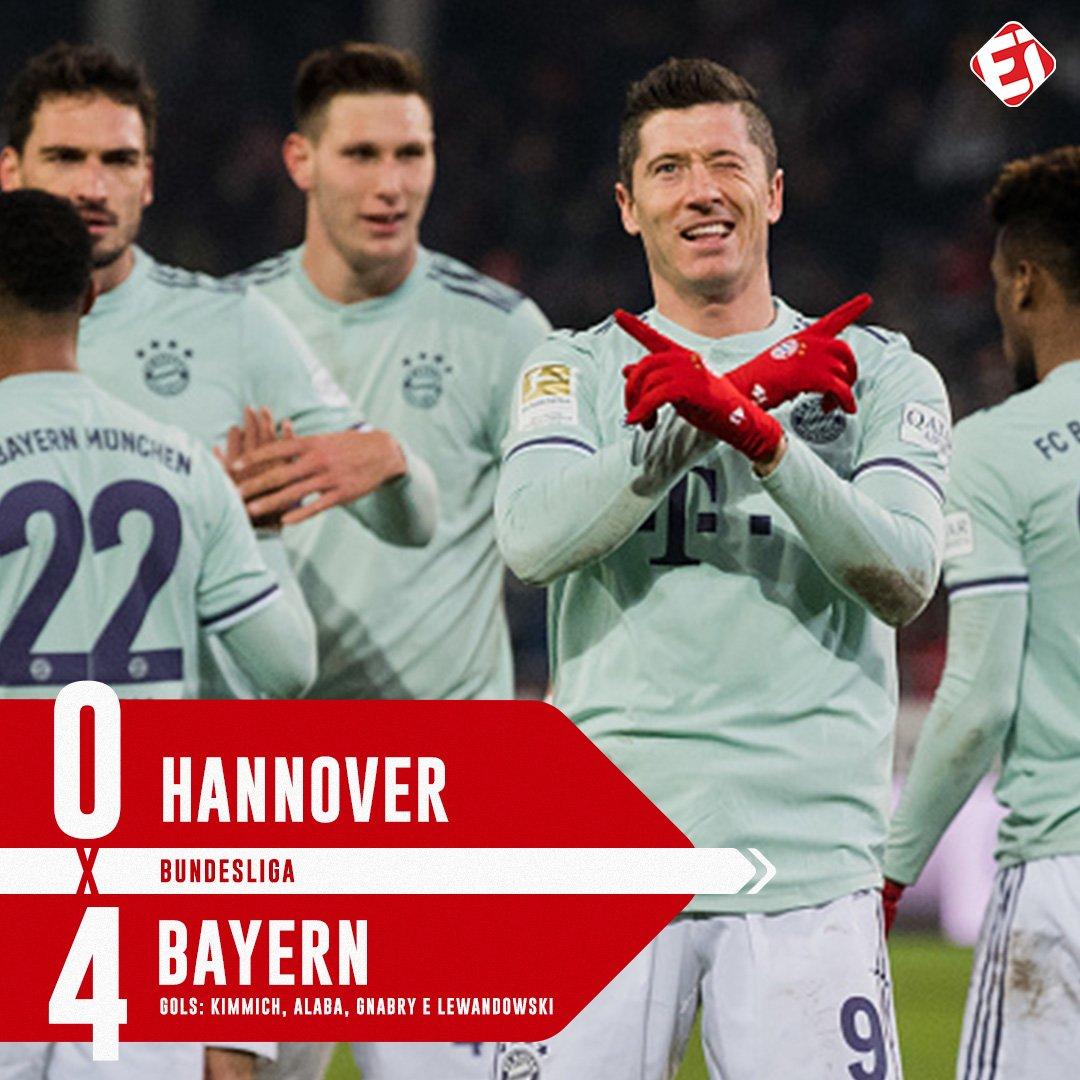 ATROPELOU! Fora de casa, @FCBayern vence sem dificuldades e continua a perseguição ao líder @BVB! Quem vai levar o título da @bundesliga_de nessa temporada?