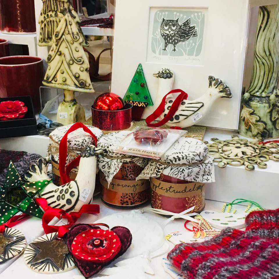 Here at Oriel Makers we've got Christmas covered! We are a veritable Santa's Grotto - full of beautiful handmade gifts from a host of local makers, with something for every budget. Open 10-5 everyday until Xmas (except Sunday 16th). #roath #handmade #xmas #gifts #cardiff