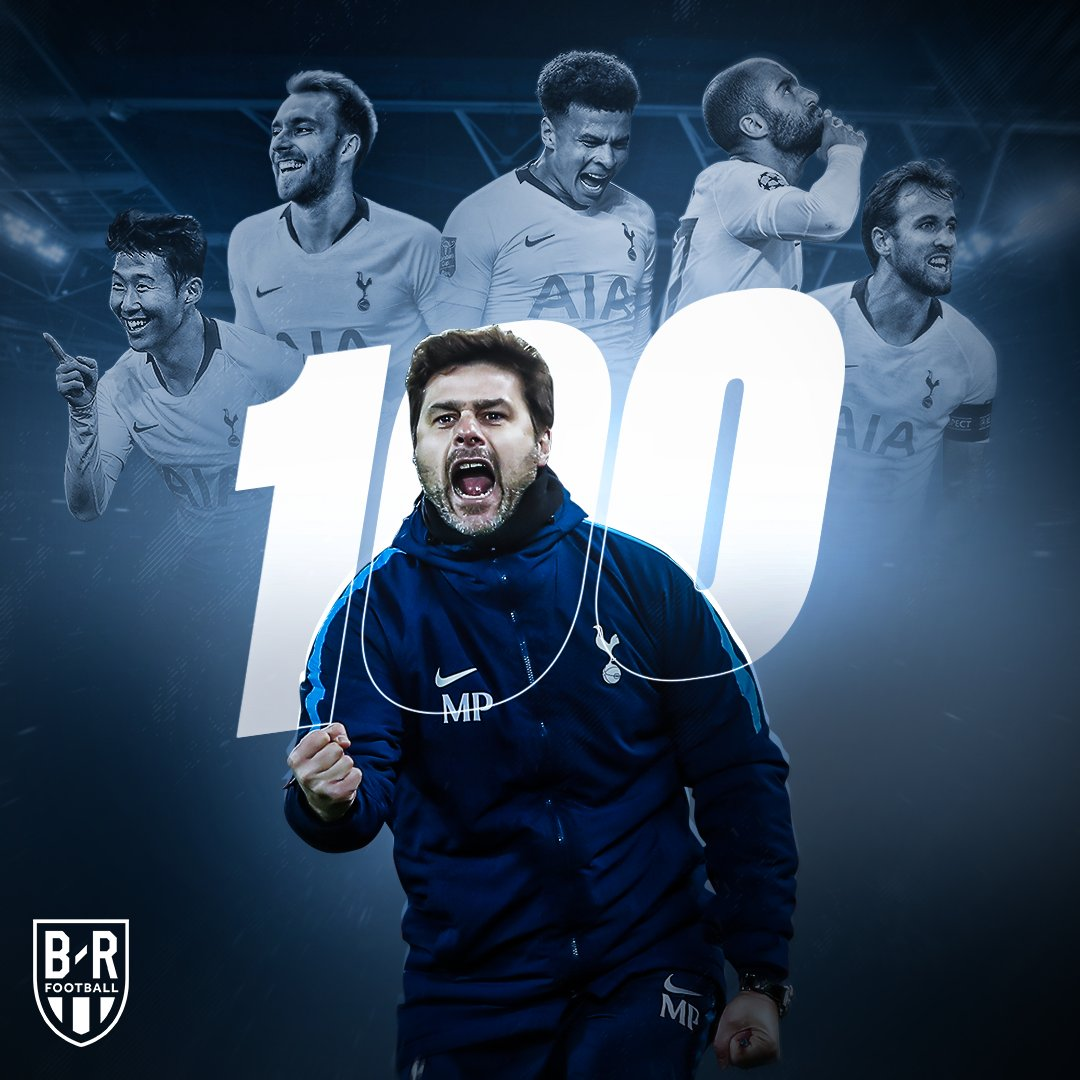 Mauricio Pochettino is the first @SpursOfficial manager to win 💯 Premier League games!