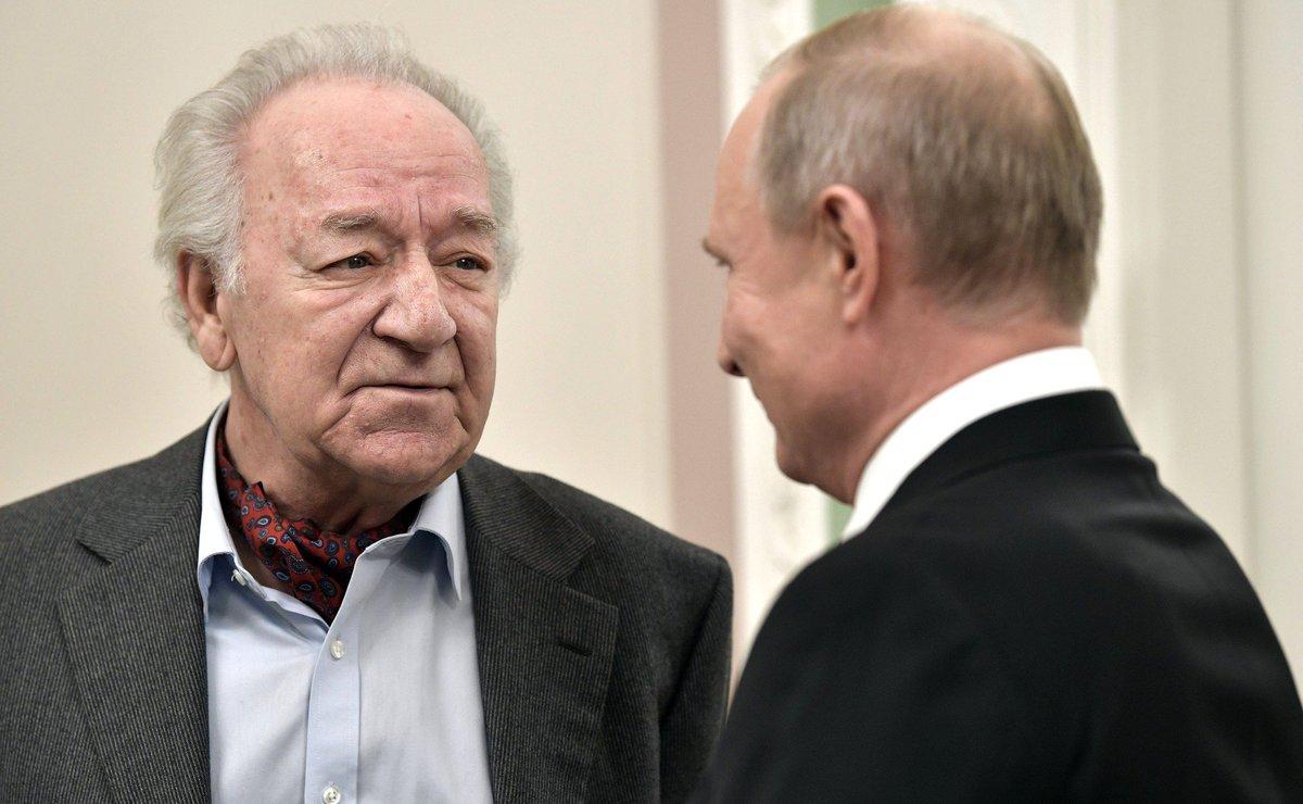 Владимир Путин посетил гала-концерт в Санкт-Петербургской академической филармонии в честь 80-летия Юрия Темирканова https://t.co/cl2cmhrfpf
