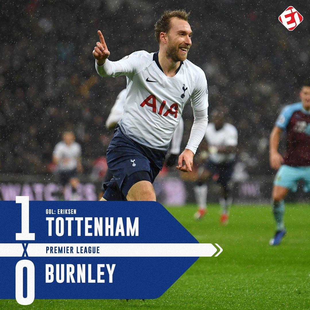 NA RAÇA! Com gol de @ChrisEriksen8 nos acréscimos, @SpursOfficial vence em casa e segue firme na terceira posição da Premier League!