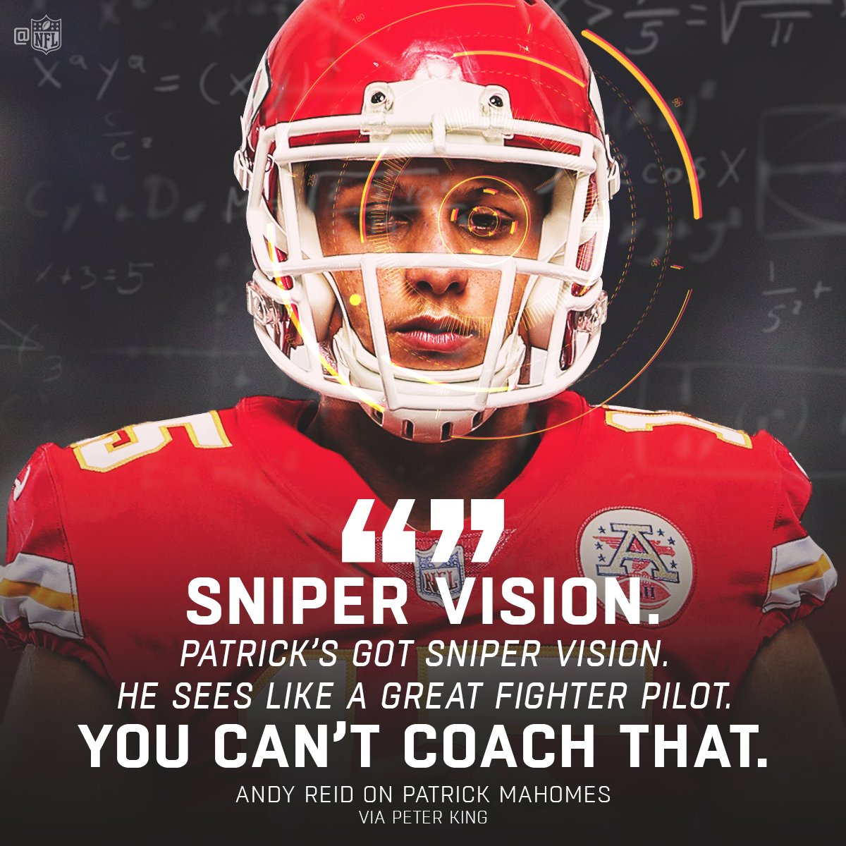 .@PatrickMahomes5 sees the field like it's on radar. 👀