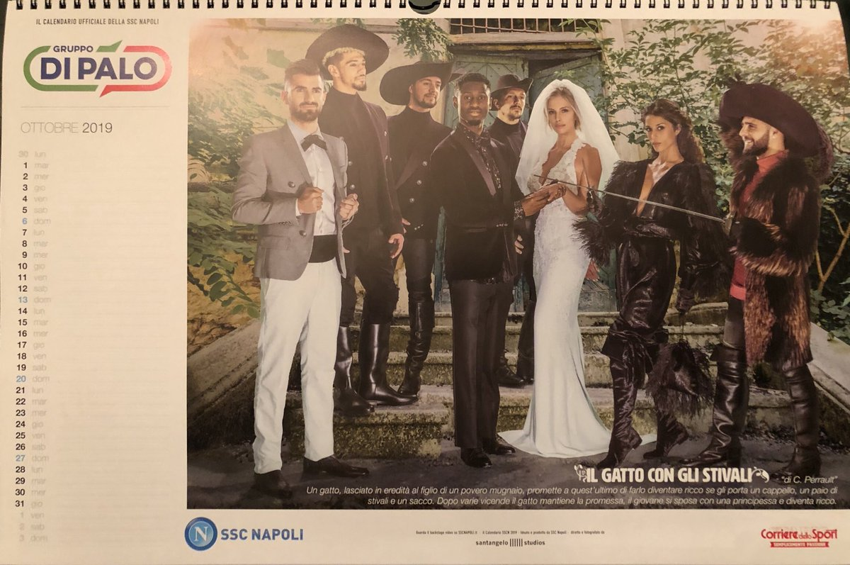 Corriere Dello Sport Calendario.Foto Zoom Napoli Calendario 2019 Ecco Le Immagini In