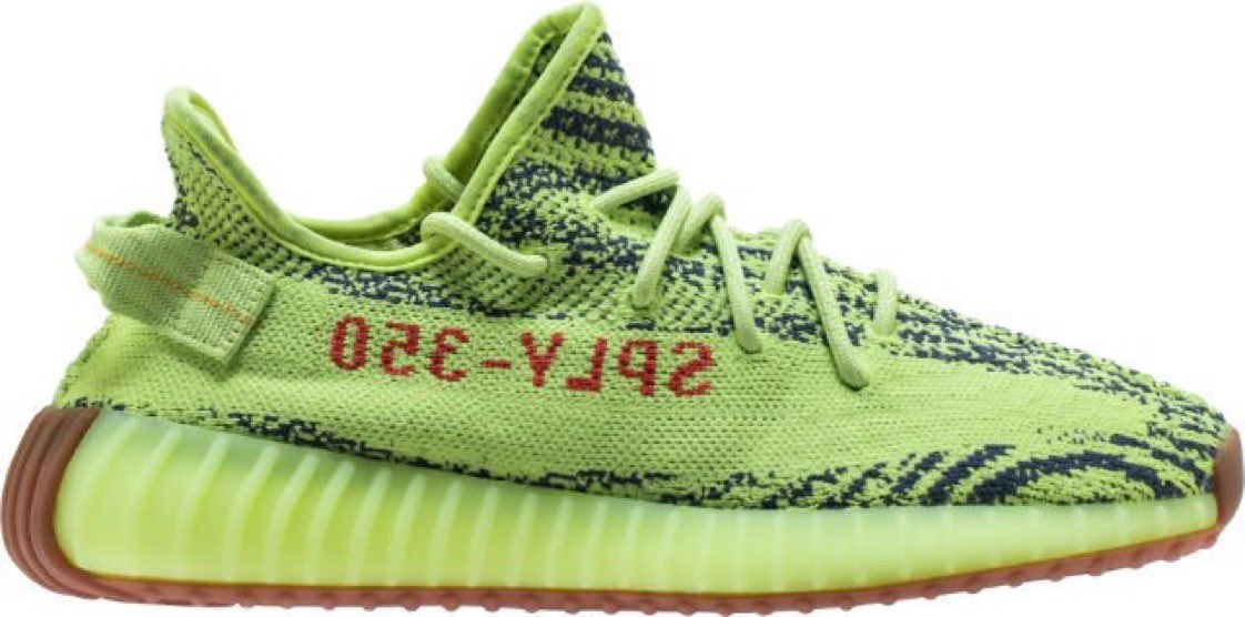 92f8066497a6 size 85 left yeezy boost 350 v2 semi frozen yellow mens lifestyle shoe semi  frozen raw