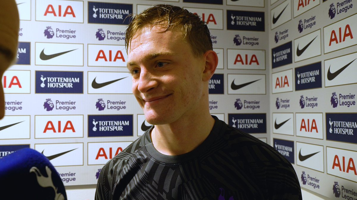 """🗣️ """"When I saw my name on the teamsheet, I was just delighted!""""  Oliver Skipp on a memorable day at Wembley.  #COYS"""