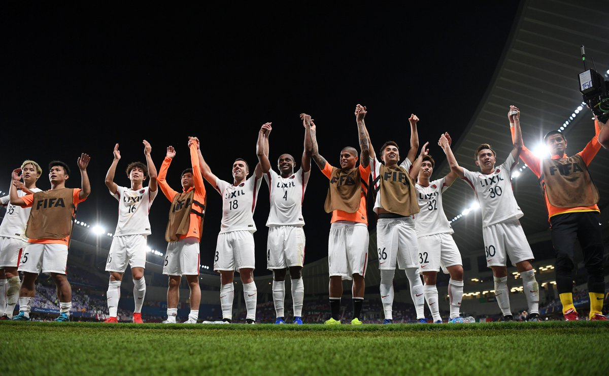 When you're through to the #ClubWC semi-finals 😁 @atlrs_english & @alainfcae_en 👏
