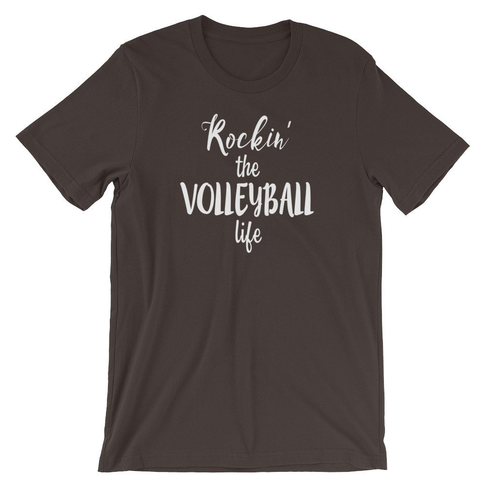 5209deafeb Rockin' The Volleyball Life Short-Sleeve Unisex T-Shirt, MANY COLORS  AVAILABLE https://etsy.me/2GgoEek #clothing #shirt #athletic #shortsleeve  #crew ...