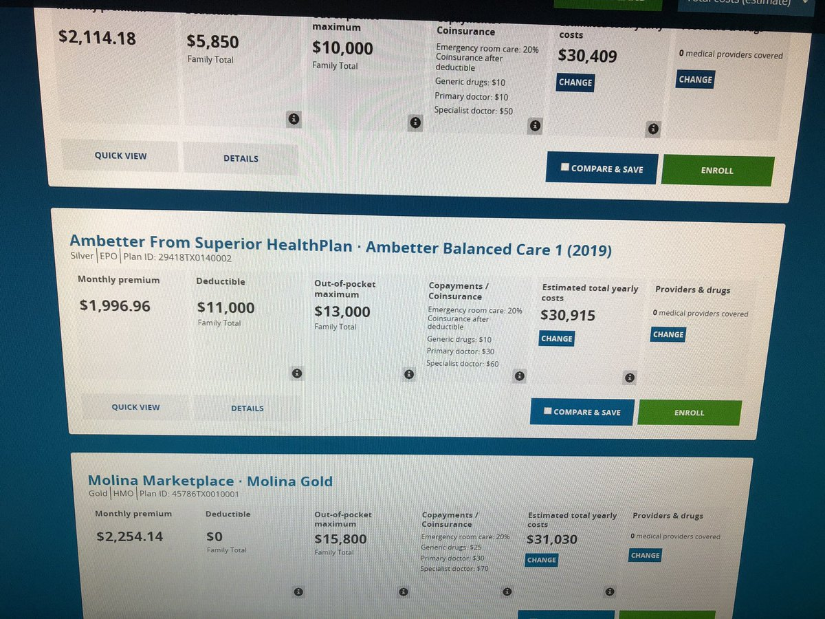 Van Taylor On Twitter Pricing Health Insurance On The Aca Is