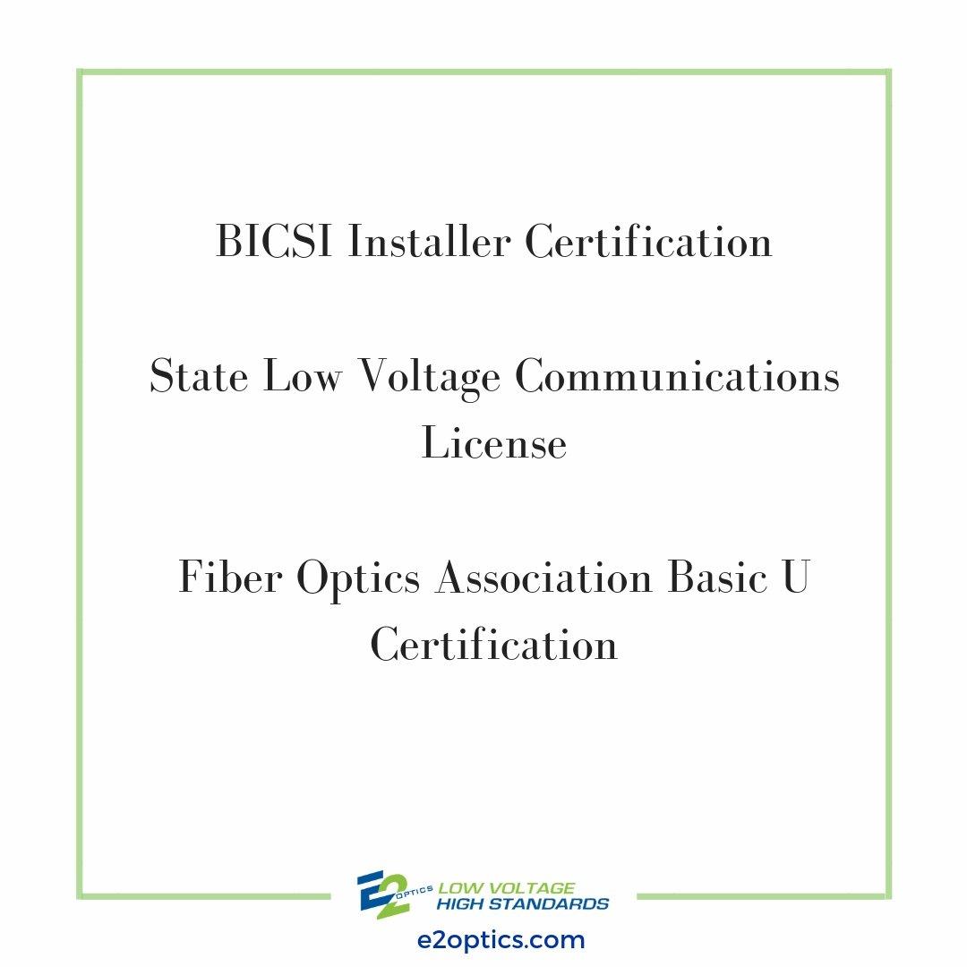 E2 Optics On Twitter Do You Meet These Low Voltage Installer
