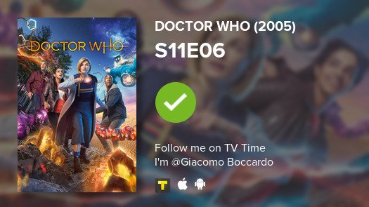 test Twitter Media - I've just watched episode S11E06 of Doctor Who (2005)! #doctorwho  #tvtime https://t.co/inKeR69Ui0 https://t.co/7nHU4hm0CY