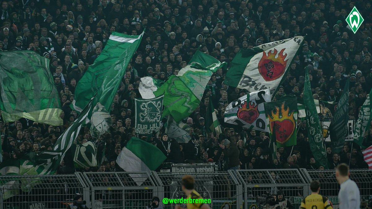 Einen großen Dank an alle 8.500 #Werder-Fans, die trotz Eiseskälte auch heute wieder unsere grün-weißen Fahnen wehen ließen. 💚   Kommt alle gut nach Hause!  #Werder