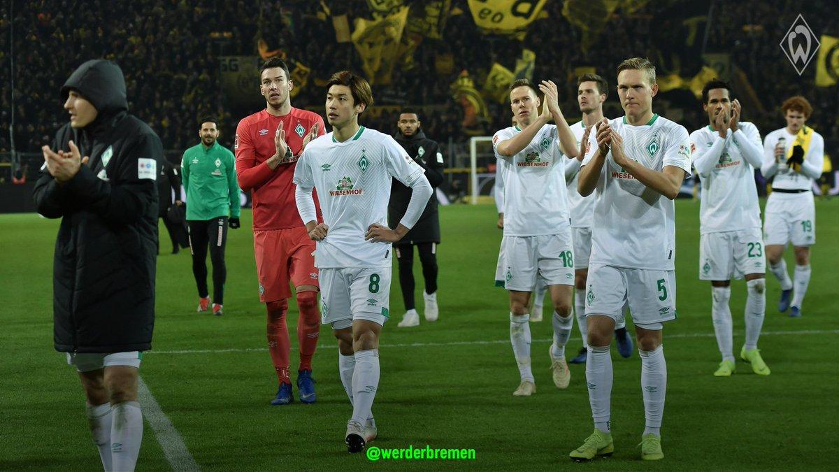 Klarer Tenor: Eine ordentliche #Werder-Leistung mit mutigen Phasen, die mit etwas mehr Spielglück auch einen Punkt verdient gehabt hätte.  👉 http://svw.de/Stimmen_Dortmund…  #Werder | #bvbsvw
