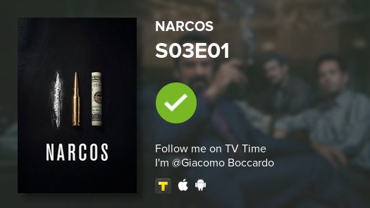 test Twitter Media - I've just watched episode S03E01 of Narcos! #narcos  #tvtime https://t.co/W1IW3vpRpP https://t.co/67pU4aNCQT