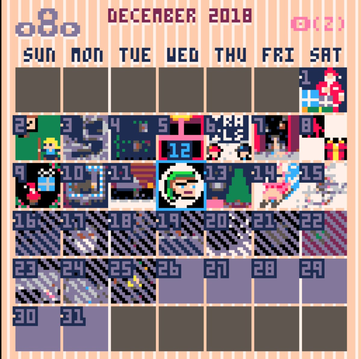 PICO-8 posts an Advent calendar of browser mini-games all month https://t.co/hOt8XOb76t