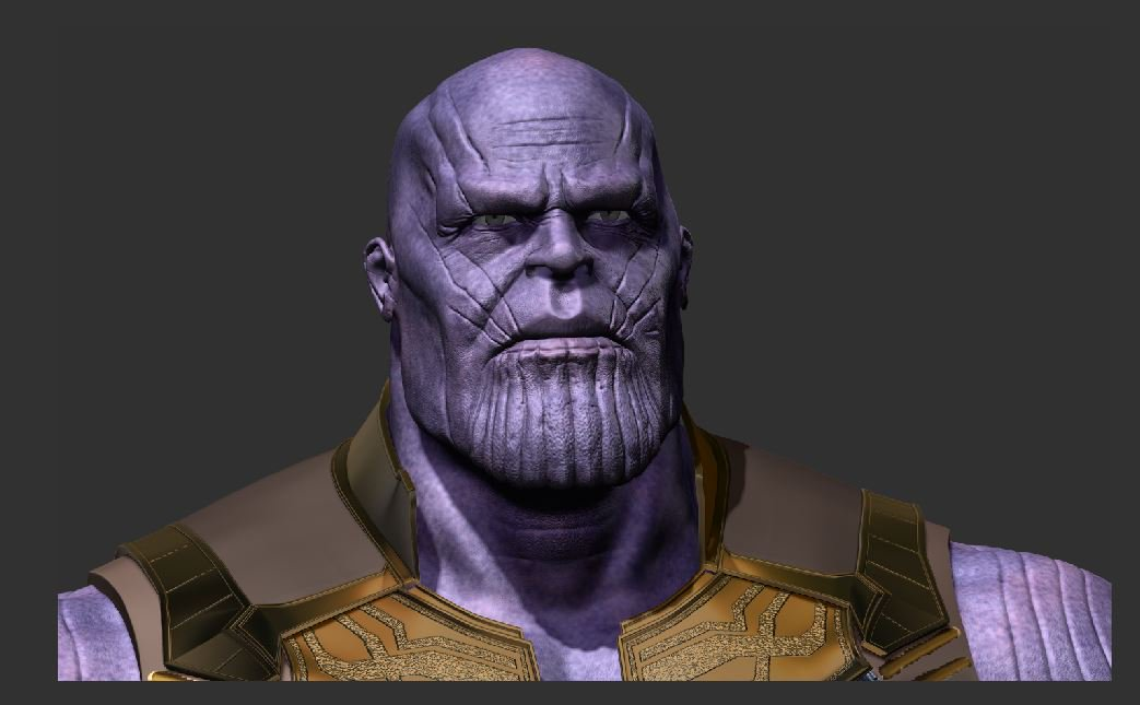 Another WIP of thanos 2.0 ......... had to update him as the old ones likeness wasn't on point!  #thanos #AvengersEndgame #AvengersInfinityWar #Marvel #comicfiesta2018 #ZBrush #3D #3Dart #3dmodeling #Sculpting #DXB #Render  #hot #animation #GOTY #art #Skills