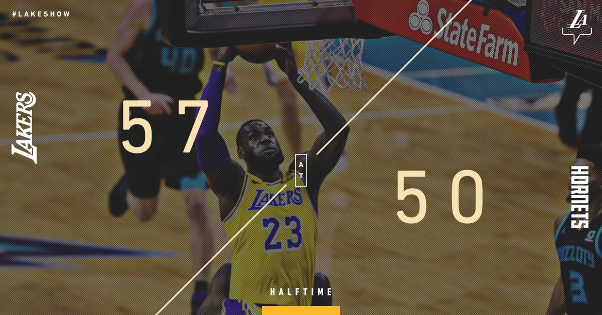 #LakeShow looking to build on the halftime lead.   @KingJames: 18 pts, 7 reb, 5 ast @ZO2_: 6 pts, 5 ast, 4 reb, 4 stl