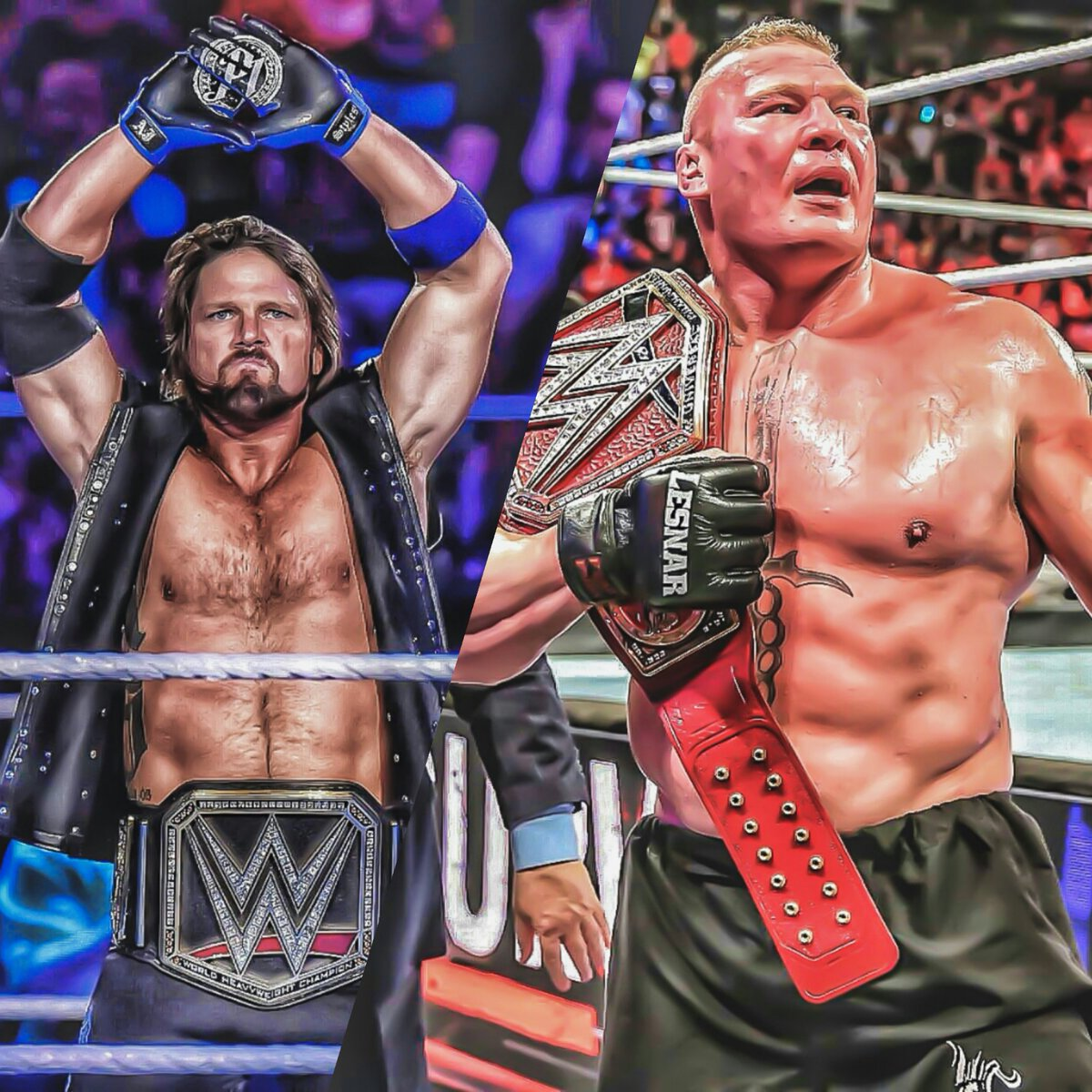 Whom Do You Prefer The Most @AJStylesOrg or #BrockLesnar #WWE #WWETLC #AjStyles #BrockLesnar #WWE #UniversalChampion #SurvivorSeries #RoyalRumble #Wrestlemania #SummerSlam #SethRollins #Raw #SDLive