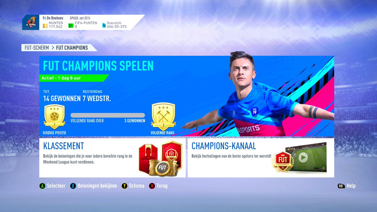 Done! Started 4-6 with a disconnect.  #FIFA19