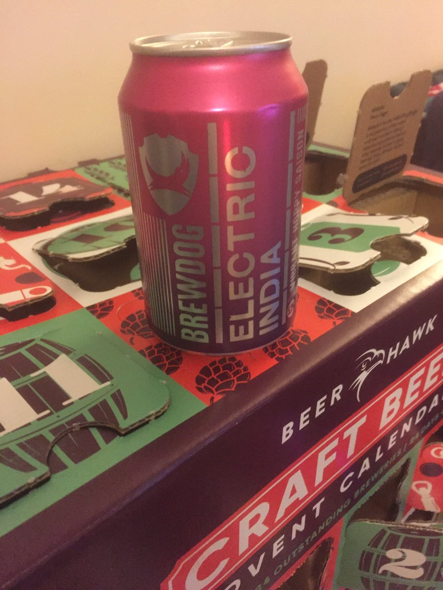 Can of Brewdog's Electric India? Don't mind if I do! @TheBeerHawk #xmascheers