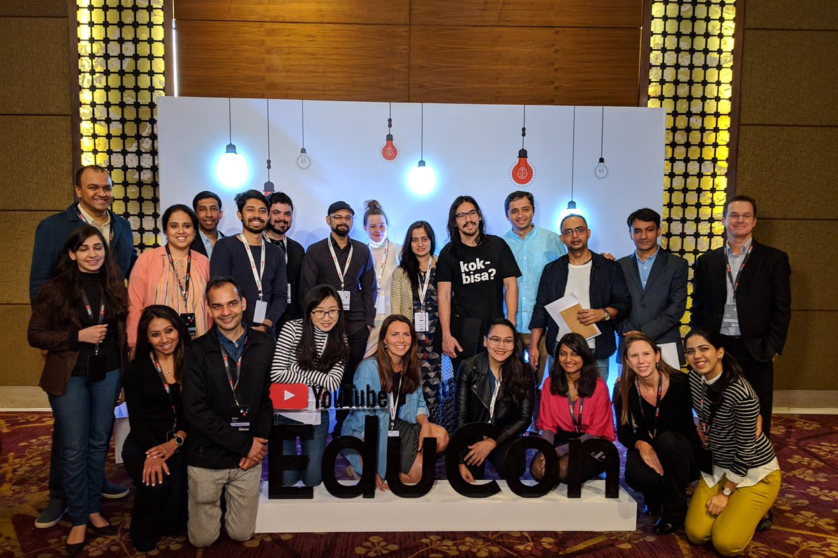 Thanks to everyone who participated in India's first #YouTubeEduCon today! We're celebrating the creators who help millions across the globe learn something new every day. Check out @YouTubeIndia for more quotes and photos from the event. #YouTubeLearning