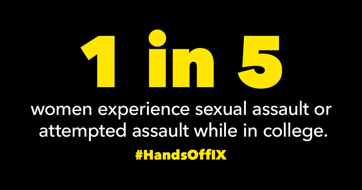 Reporting sexual assault can be terrifying, humiliating, and degrading. @BetsyDeVosED seems to think it should be even harder. Take action to tell @usedgov: https://t.co/VCzaE0fQOZ #HandsOffIX