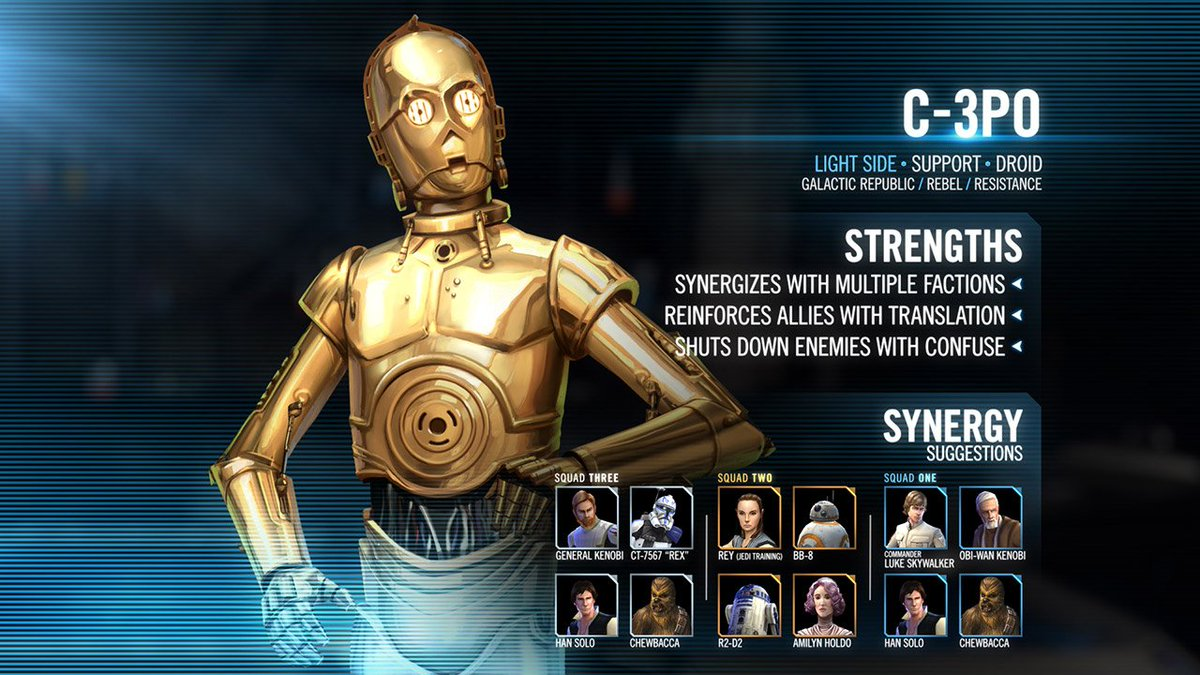 C-3PO may be programmed for etiquette, but that won't stop him from helping you cause a little destruction in the latest update to Star Wars: Galaxy of Heroes. https://t.co/sFNVKXlzUW