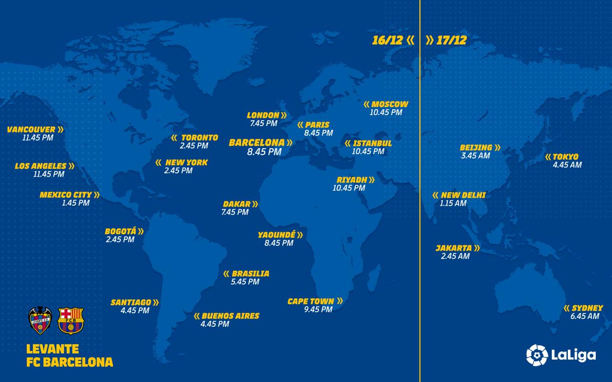 🌍📺🌎📺🌏 A highly detailed TV Guide 📖 for #LevanteBarça 👉 http://ow.ly/vISR50jX7TN