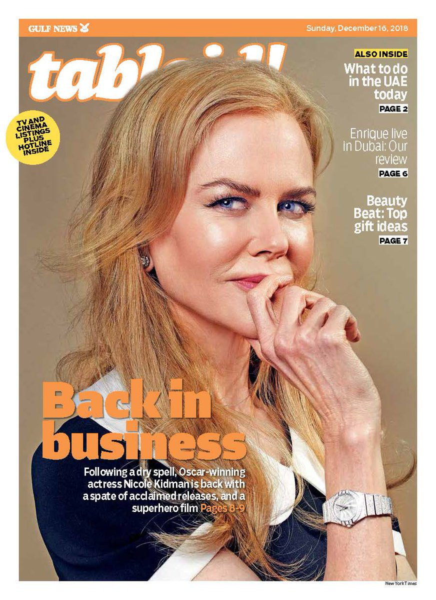 #NicoleKidman on why she almost gave up on movies after a series of bad projects, and how she got back her groove, even appearing in another superhero film #Aquaman: https://t.co/7DoDl7opk1 #TabloidCover
