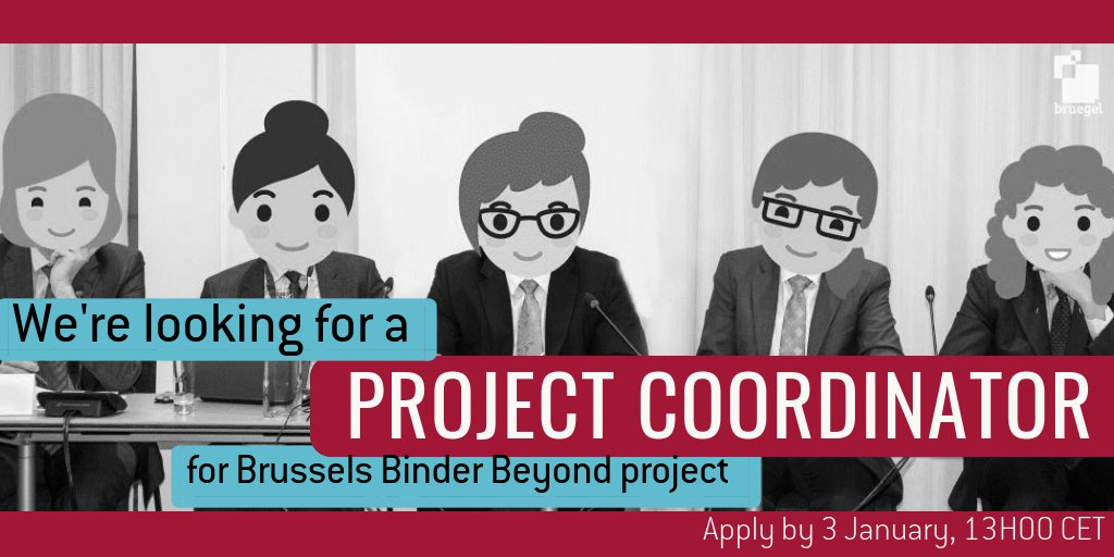 #HIRING | Make a difference in improving #diversity in policy debates. Bruegel, The German Marshall Fund of the United States @gmfus and the Brussels Binder @bxlbinder are looking for a full-time project coordinator. >> bru.gl/2UJTnmT #BrusselsJobs #JobAlert