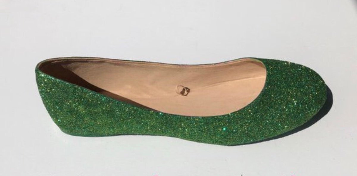 ccf02264a Excited to share this item from my  etsy shop  Women s Custom Holiday  Emerald Green Gold Glittered Ballet Flats Dance Shoes Christmas Gift  Birthday Gift ...