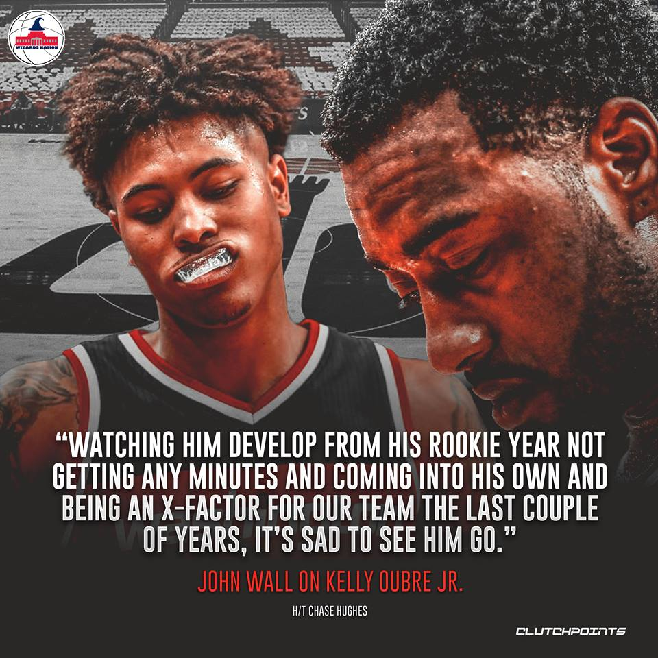 John Wall built a strong connection with Kelly Oubre. #Wizards #DCFamily  http://dlvr.it/Qtj1Tz