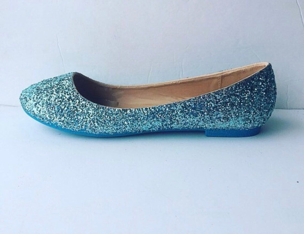 29733032d Excited to share this item from my  etsy shop  Women s Custom Holiday  Turquoise Blue Glittered Ballet Flats Dance Shoes Christmas Gift Birthday  Gift Baby ...