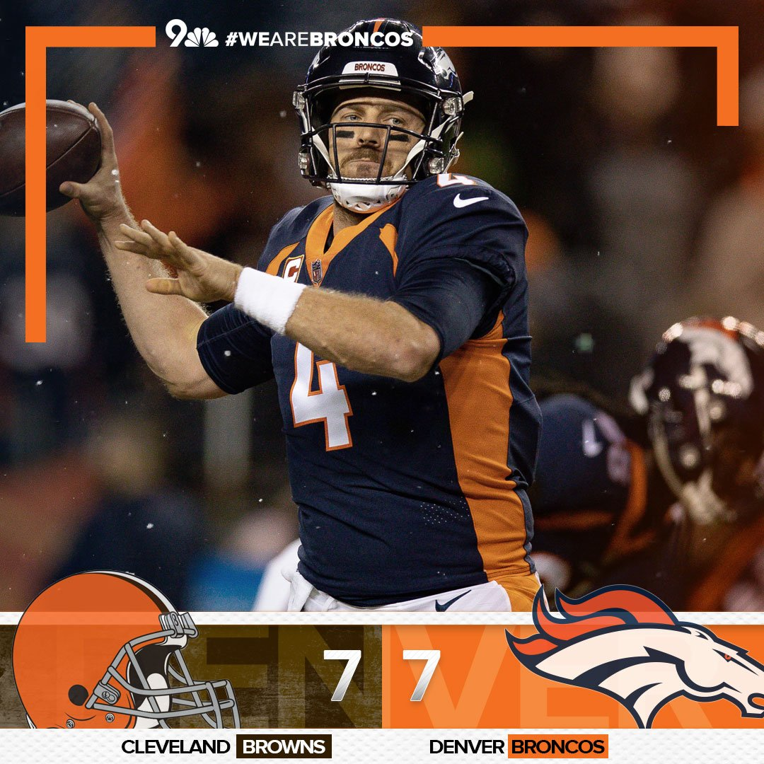 All tied up after 1. Join the LIVE COVERAGE | on9news.tv/2QSimFA #WeAreBRONCOS #BeattheBrowns #CLEvsDEN