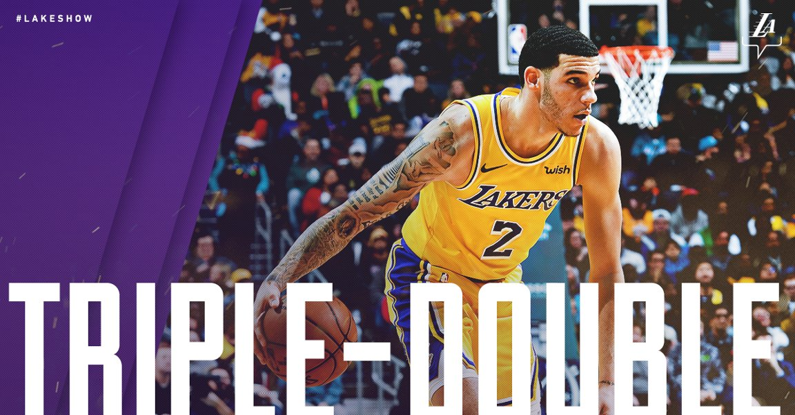 14 Points 10 Assists 10 Rebounds @ZO2_ does it all.