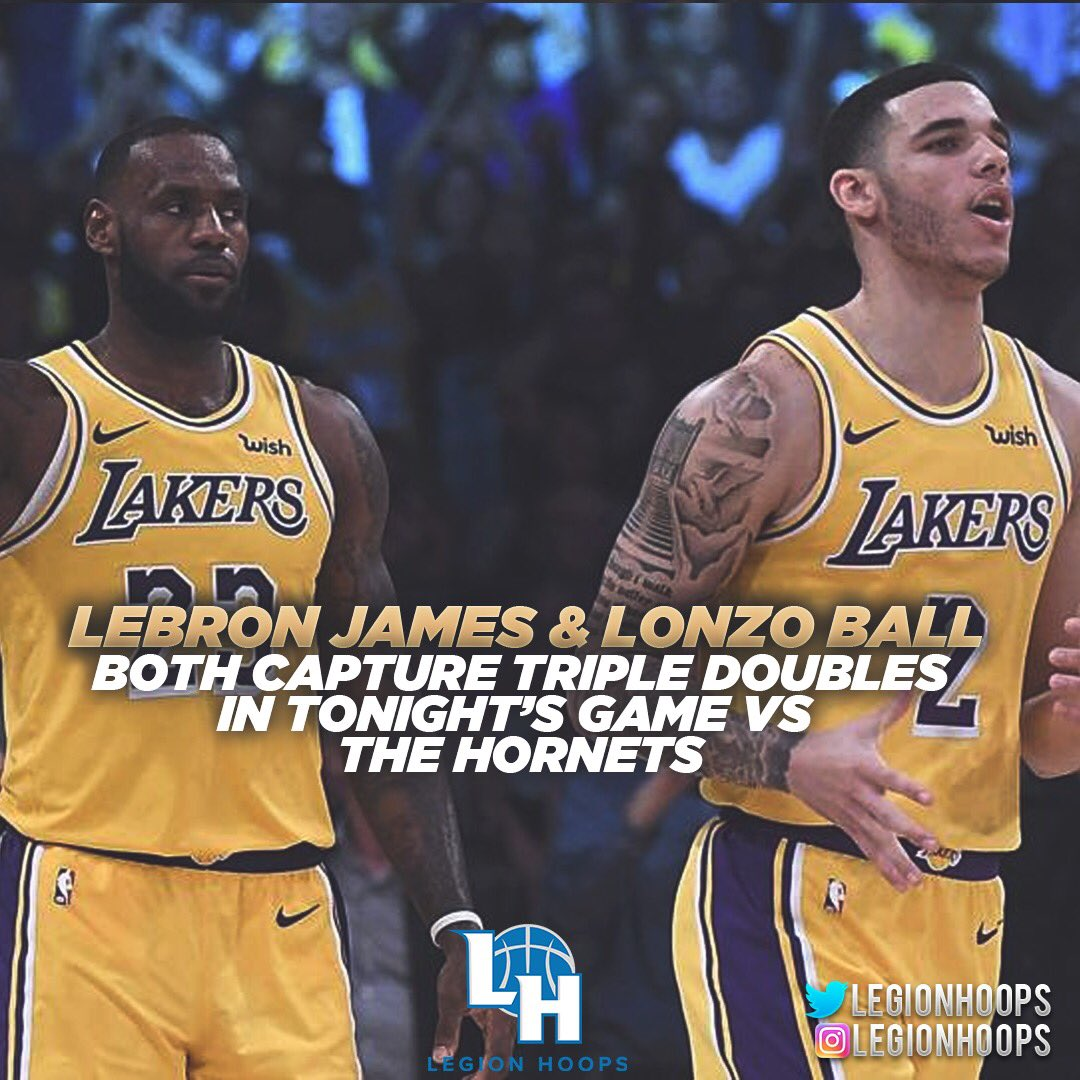 LeBron & Lonzo BOTH get triple doubles in the SAME game.  Wow.