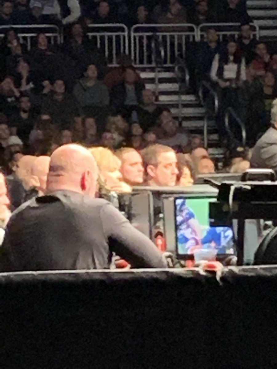 That moment when @danawhite is at #UFCMilwaukee and is watching football 🤷🏽♂️