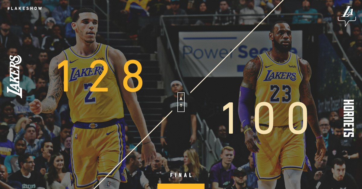 Twin triple-doubles and a 28-point #LakersWin.  @KingJames: 24 pts, 12 reb, 11 ast @ZO2_: 16 pts, 10 reb, 10 ast https://t.co/KmHrS3EMTc