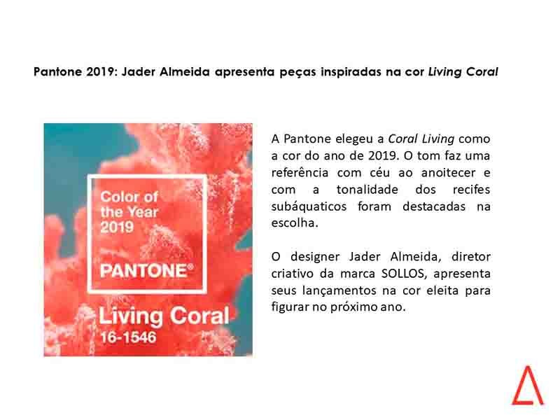 Pantone 2019: Jader Almeida apresenta peças inspiradas na cor LivingCoral https://t.co/mjUDKbtjIs https://t.co/M2PWnUf0Qq