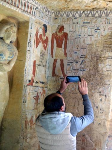 We gotta protect that new discovered tomb in Egypt before they bleach all the colors and change the noses.