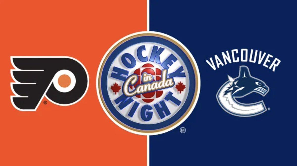 RT @hockeynight: WATCH   Hockey Night in Canada: Flyers vs. Canucks https://t.co/G7IUR9OLlr https://t.co/W8sYWIOfzo