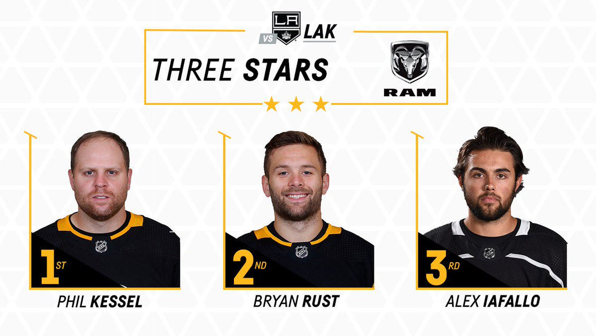 Scoring an OT goal is a good way to get #1 star honors.  Way to go, @PKessel81!