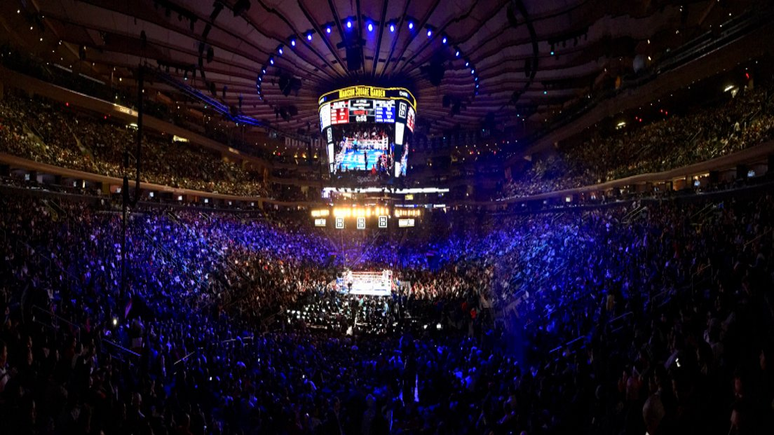 Madison Square Garden is almost full for Canelo-Rocky tonight.
