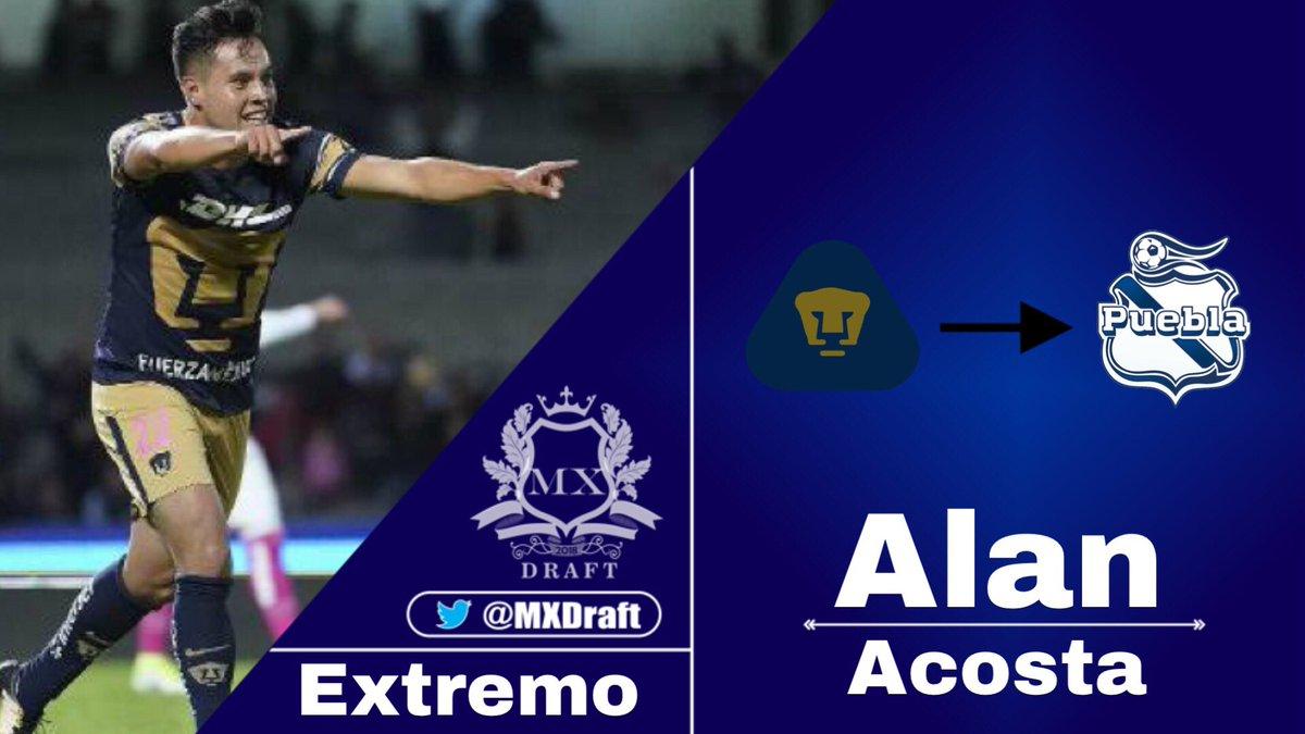 #LIGABancomerMX   🇲🇽 Alan Acosta es nuevo jugador del Club Puebla. Llega cedido de Pumas UNAM #CONFIRMADO   #FichajesMXD 🔥