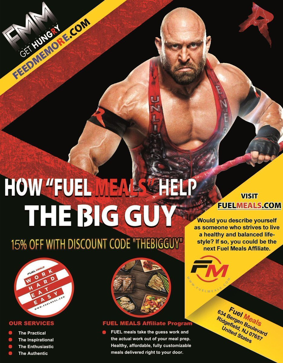 Save 15% with discount code THEBIGGUY @_fuel_up on your @_fuel_up meals... The personal meal prep service of @Ryback22 New menu available now.. https://t.co/p3Ru5bwyVn Ryback...#FeedMeMore #FuelMeals #MealPrep #Bodybuilding #Hungry