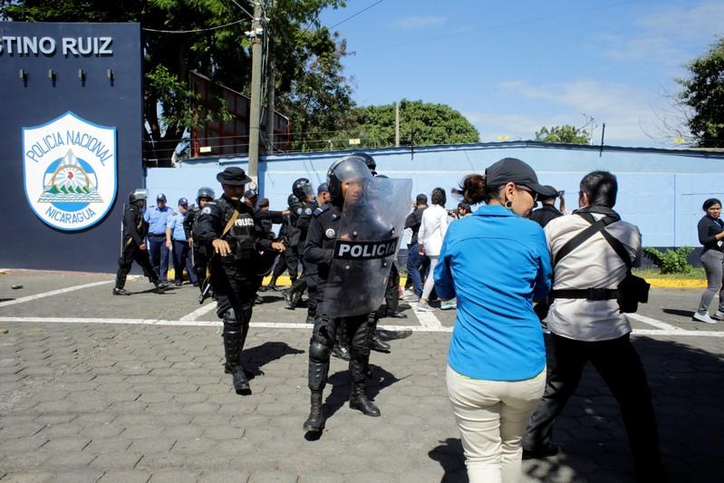 Nicaragua police beat journalists in crackdown on free press https://t.co/9YrUMOVby7